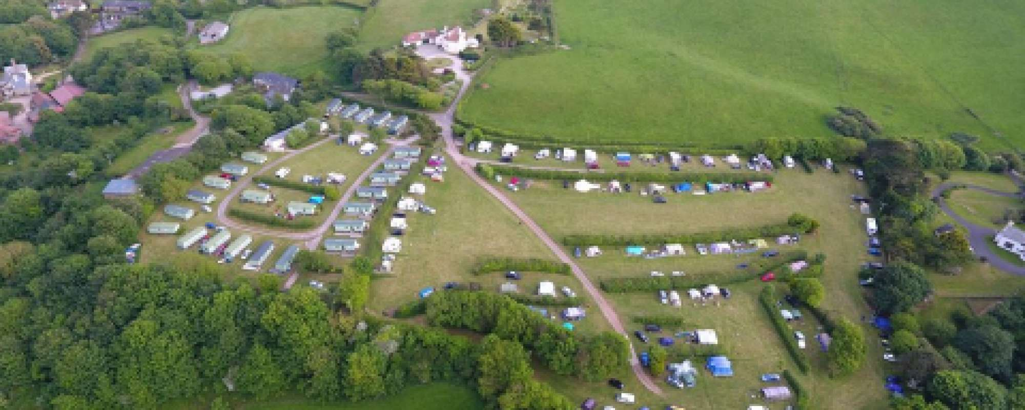 Aerial view of our Caravan and Camping Park
